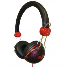 SY1225R - AURICULARES CERRADO DJ ROJO
