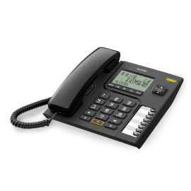 T76 - TELEFONO SOBREMESA NEGRO C/ PANTALLA ALCATEL