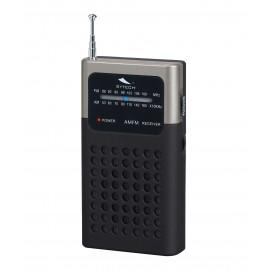 SY1664N - RADIO BOLSILLO ANALOGICA AM/FM NEGRA SYTECH