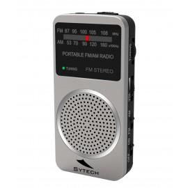 SY1675P - RADIO BOLSILLO ANALOGICA AM/FM PLATA SYTECH