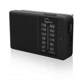 SY1662N - RADIO BOLSILLO ANALOGICA AM/FM NEGRA A PILAS SYTECH