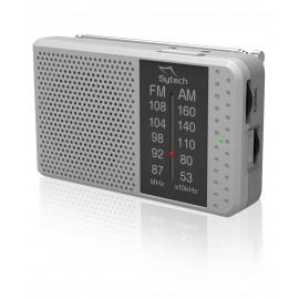 SY1662P - RADIO BOLSILLO ANALOGICA AM/FM PLATA A PILAS SYTECH