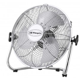 Ventilador Industrial de suelo Power Fan. 3 aspas metálicas. Diámetro 50cm. 3 velocidades de ventilación. Inclinación ajustable.