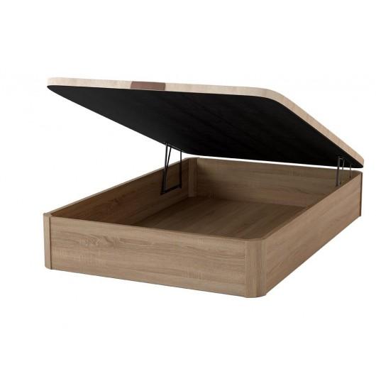 Canapé madera de gran capacidad.Tapa extra-gruesa de 6 cm de grosor fabricada en DM perforada (ventilación). Estructura reforzad