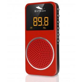 SY1676RO - RADIO BOLSILLO DIGITAL FM ROJA SYTECH