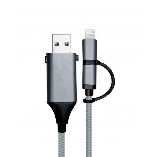 SY1594 - CABLE USB 2 EN 1 OTG