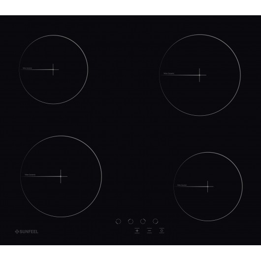 PVS4F - PLACA VITRO 4F TACTIL SUNFEEL
