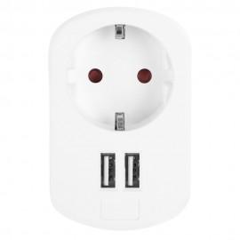 EN1200 - 1 ENCHUFE VDE Y 2 CONEXIONES USB ORBEGOZO